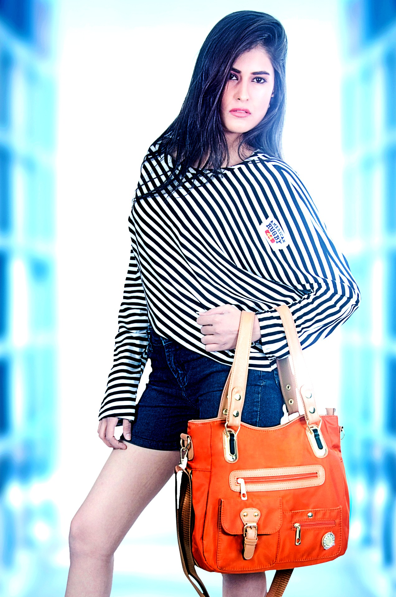 Handbag purse woman faux leather