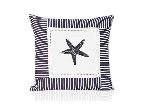 Nautical Navy Cotton Cushion Cover