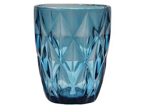 blue colour tumbler glass