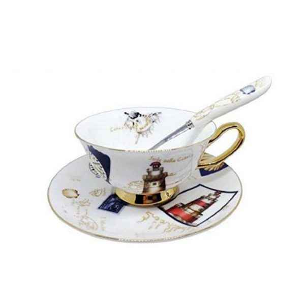 Tea Cups Saucers Set