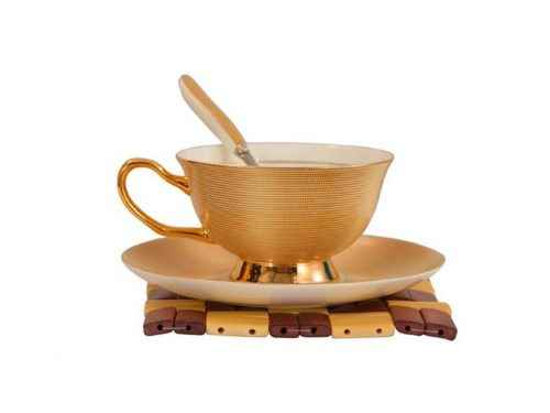 Bone China Tea Cup Gold