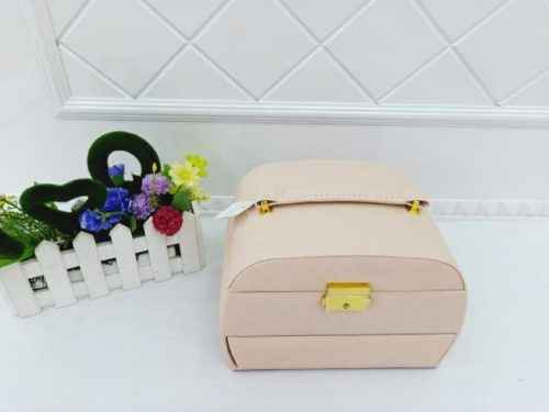 FAUX LEATHER COSMETIC CUM JEWELLERY BOX
