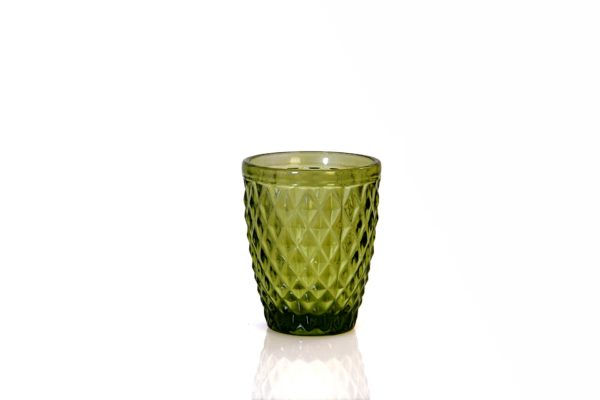green colour drinking glass