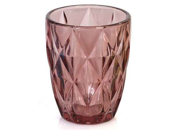 purple color drinking glass